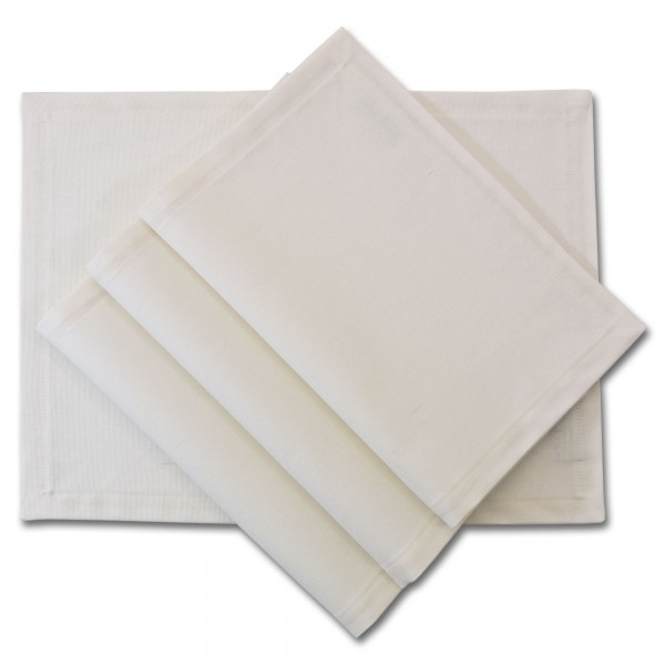Tischset Platzdecken - Canvas weiß