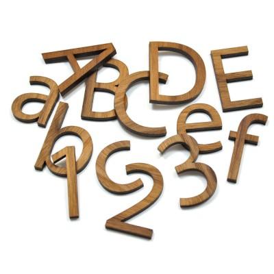 Buchstaben Wunschname Holz Schriftzug Namensschild Zahlen Schriftart Wanddeko
