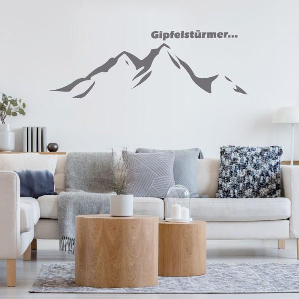 Wandtattoo [Gipfelstürmer] Wandsticker Deco Sticker Dekor Berge Wandern Alpen