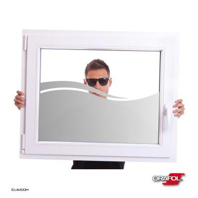 Sichtschutzfolie Glasdekor Fensterfolie - Woge