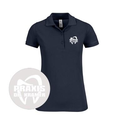 Damen Poloshirt Zahnarzt Praxisteam - navy