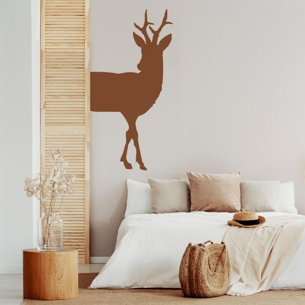 Wandtattoo [Junger Hirsch] Deer Landhaus Wanddekor Wandaufkleber Wandsticker