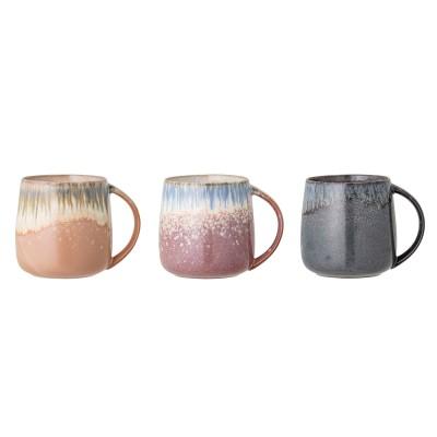 Bloomingville | Becher Mug Cloe Pott Henkelbecher Haferl Steinzeug – 3er Set