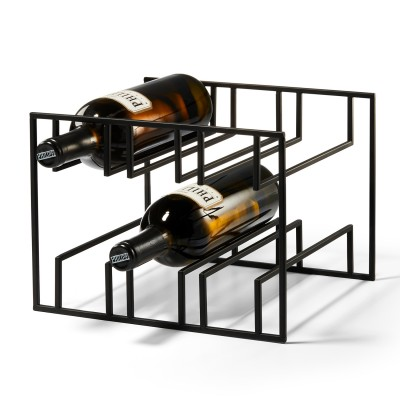 Weinflaschenhalter aus Stahl