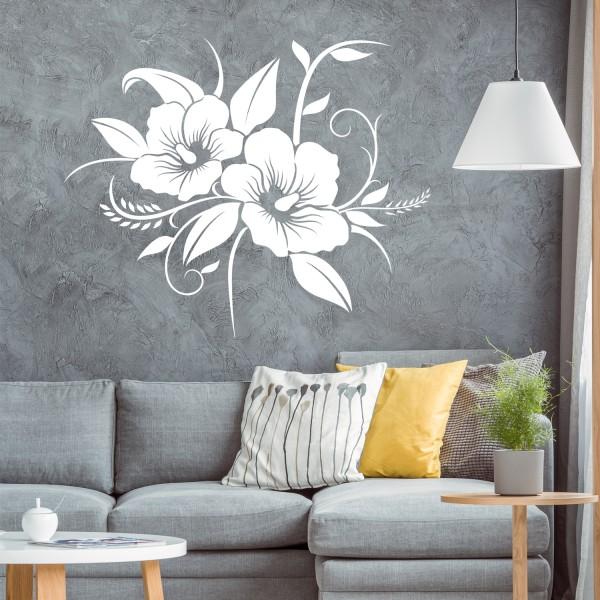 Wandaufkleber [Hibiskus] Hawaii Wandaufkleber Floral Blumen Blüten Pflanzen