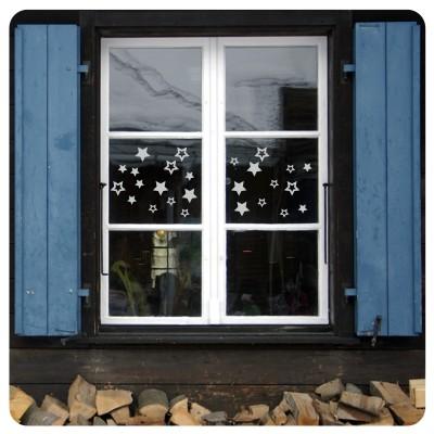 Sterne Fenstersticker Kinderzimmer Weihnachten