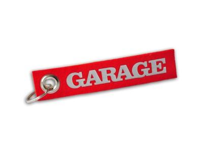 Schlüsselanhänger Filzband Garage