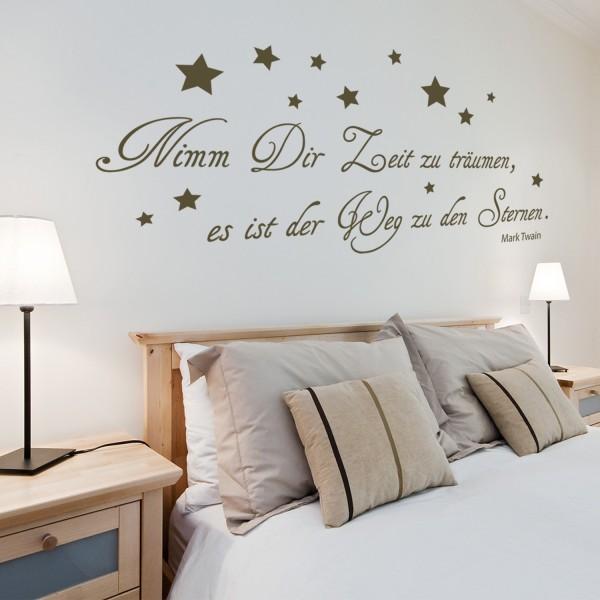 Wandtattoo [Nimm Dir Zeit zu träumen...] Wandspruch Zitat von Mark Twain