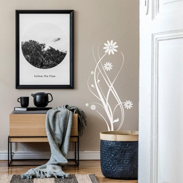 Wandtattoo [Florales Motiv] Blüten Decor Wanddekoration Wohnzimmer Blumen Dekor