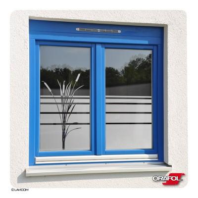 Fensterfolie Sichtschutzfolie Bambus Glasdekor