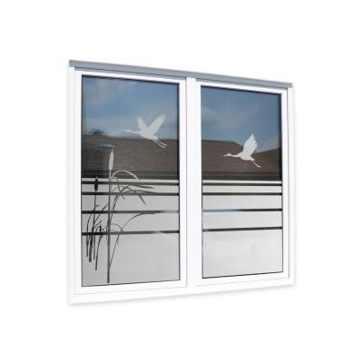 Sichtschutzfolie Fensterfolie Glasdekor Zugvögel Sandstrahloptik Sichtschutz