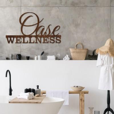 Wanddekoration | Wellness Oase | Holz Wandgestaltung Entspannung Wohnzimmer