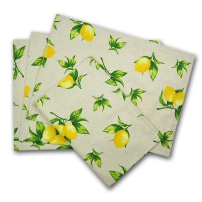 Platzset aus Baumwolle mit Zitronen
