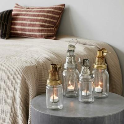 Laterne in Flaschenform für Teelichter