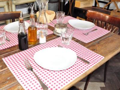 Platzdecken Tischset Landlhaus Vichy Karo