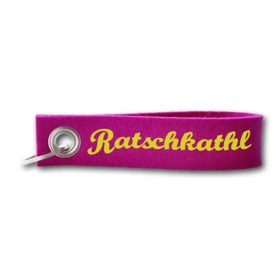 Schlüsselband Wollfilz Ratschkathl