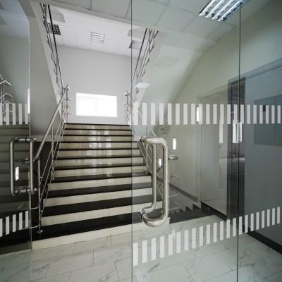 Durchlaufschutz für Glasflächen Glastüren und Fenster ~ Streifen ~ satinierte Oberfläche