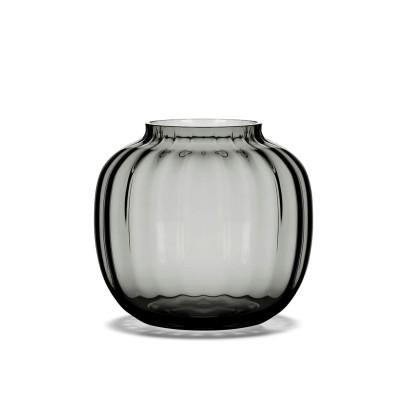 Holmegaard   Primula Vase Blumenvase Glas - smoke