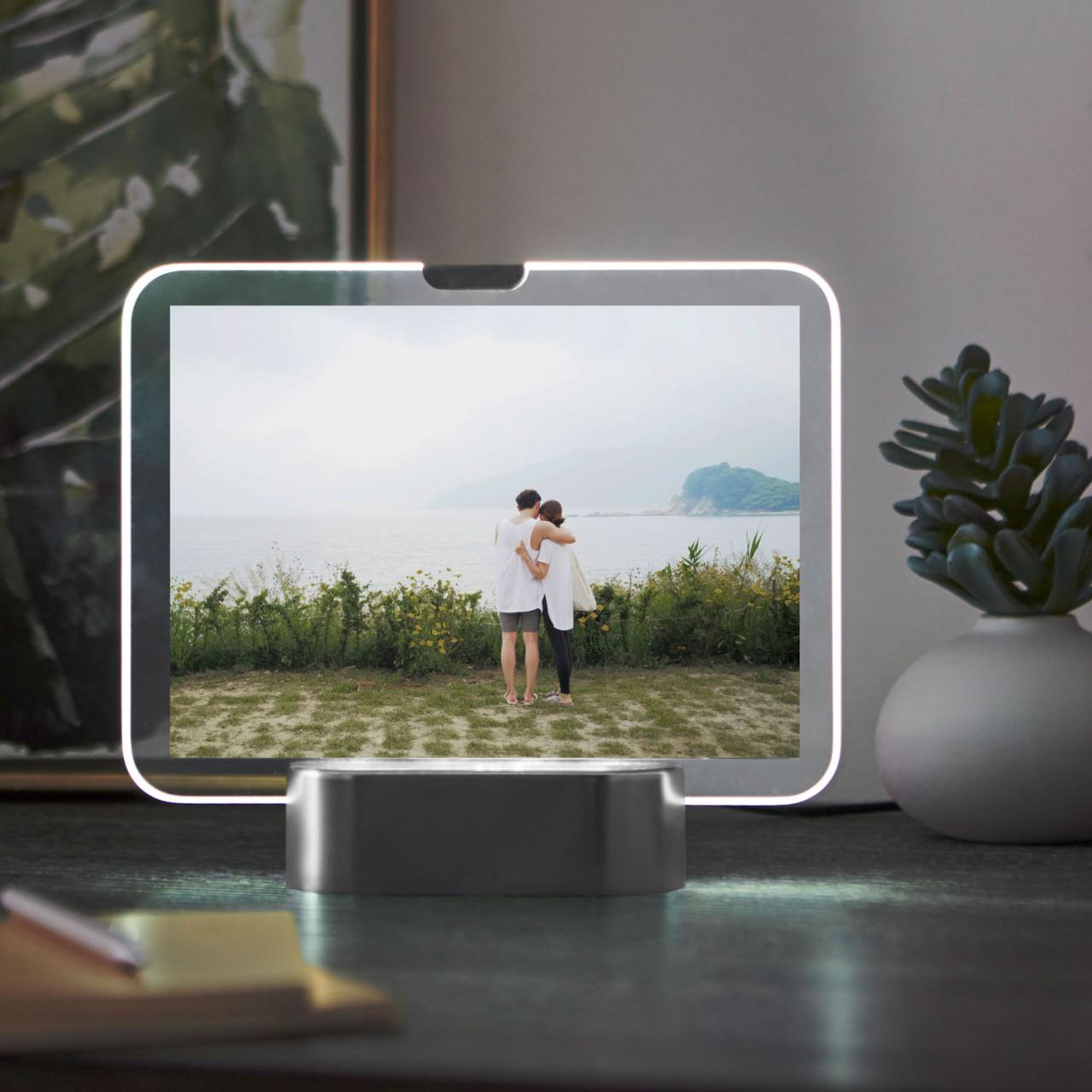 Beleuchteter Fotorahmen für Lieblingsbilder - Bilderrahmen mit LED Beleuchtung