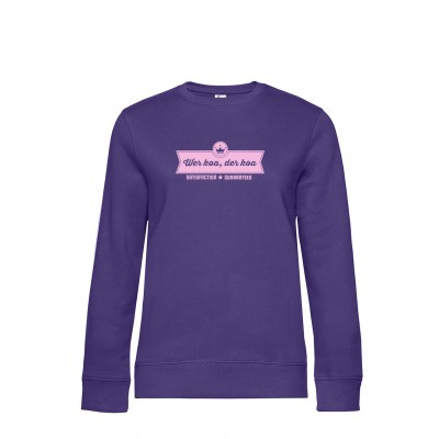Damen Sweatshirt Wer koa, der koa - radiant purple
