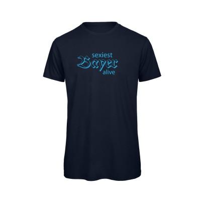 Herren T-Shirt Organic [sexiest Bayer alive] - navy