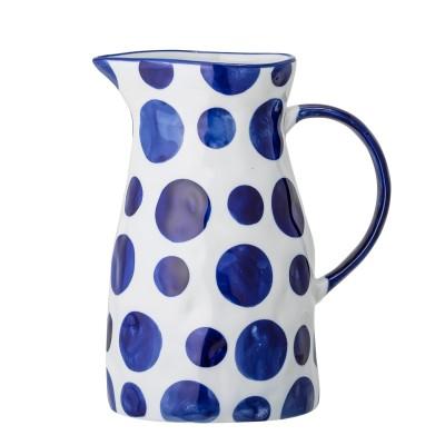 Krug | Jug | Begonia Vase Porzellan blau handbemalt