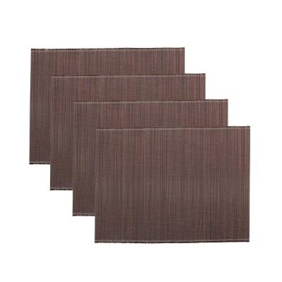 House Doctor | Tischset Bambus Platzset Placemat Tischdekoration – braun 4er Set