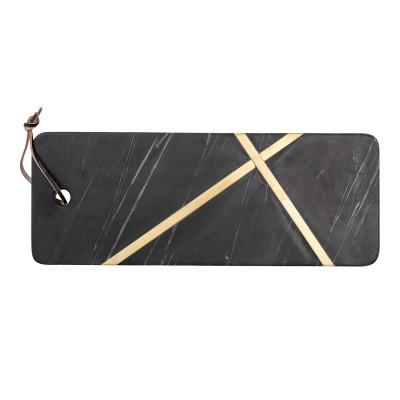 Schneidebrett Elsi Cutting Board Serviertablett Brett – Marmor schwarz