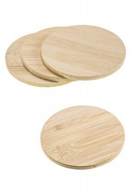 Untersetzer Bambus Ø 10 cm, 4er Pack