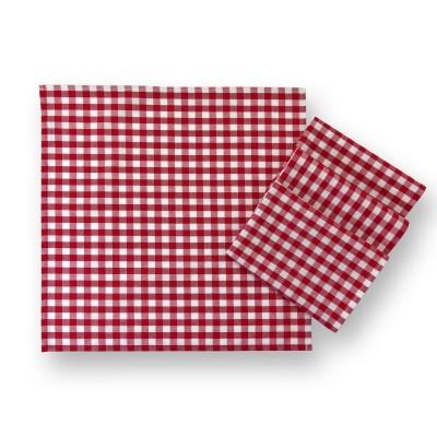 Vichy Karo Stoffservietten Landhaus rot-weiß – 4-er Set