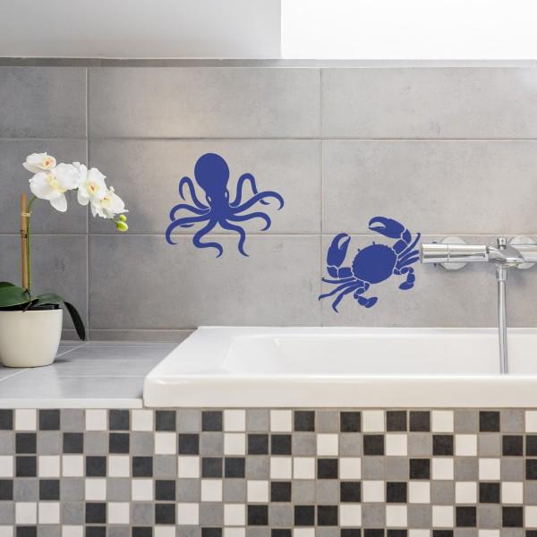 Fliesensticker Aufkleber Maritim Badezimmer Badezimmer Dekoration Wandsticker
