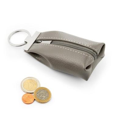 Schlüsselanhänger aus echtem Leder mit Reißverschluß mit Gassibeutel-Etui