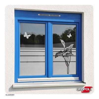Sichtschutzfolie Calla Schmetterlinge Fensterfolie Glasdekor Sichtschutz