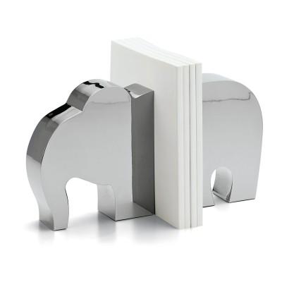 Massive Buchstützen in Elefanten Form aus Stahl