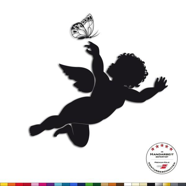 Wandtattoo + Großer Engel mit Schmetterling + Wandsticker Schlafzimmer Deko