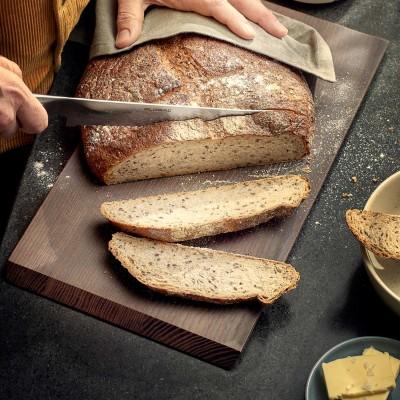 Edles Schneidebrett für Lebensmittel aller Art - Elegantes Küchenbrett aus Holz