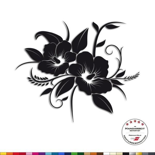 Wandtattoo - Hibiskus Blüten - floral Wandsticker