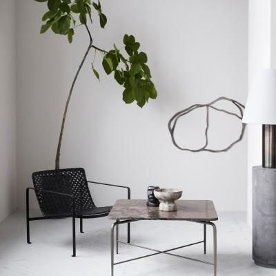 Flache Kunstwerk aus Metall zur Wohnraum Gestaltung