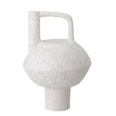 Dekovase | Loka | Bodenvase Terracotta Vase Dekoration – weiß