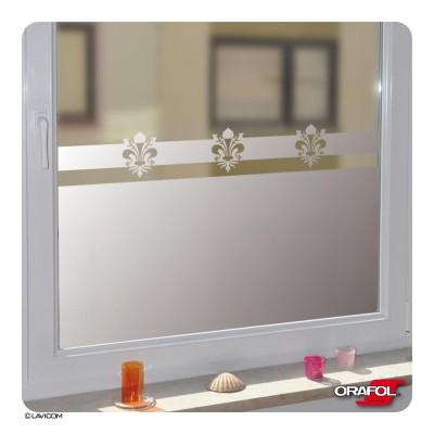 Fensterfolie [Fleur de Lys] Sichtschutzfolie Glasdekorfolie Blickschutz