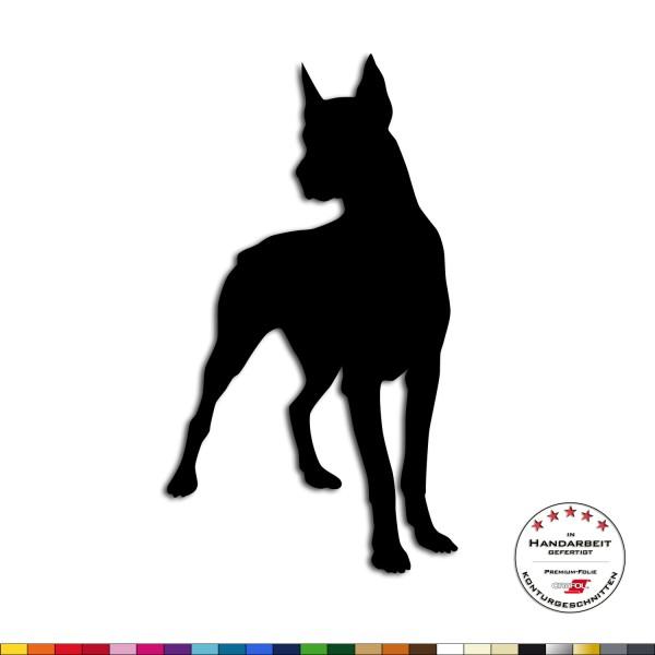 Wandtattoo Dobermann Wachhund Wohnzimmer Dekoration Sticker Wanddekoration Aufkleber