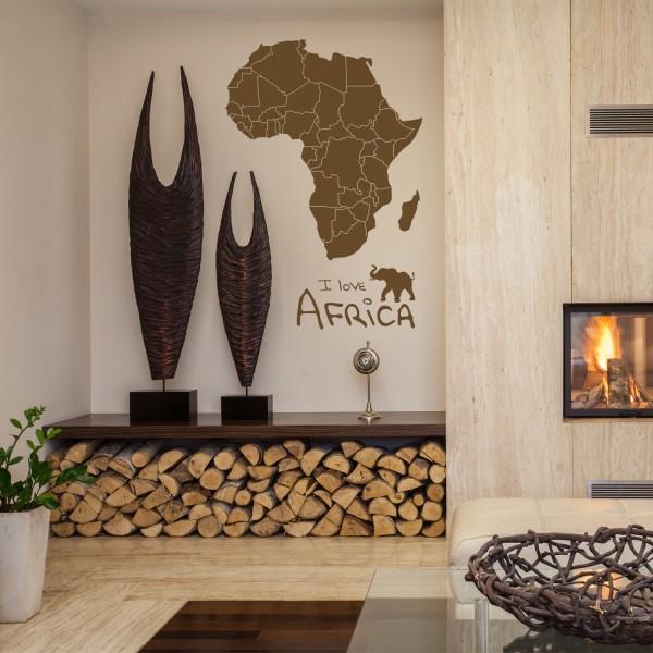 Wandtattoo [Afrika] Elefant Kontinent Walltattoo Wandsticker Africa Wüste Sahara