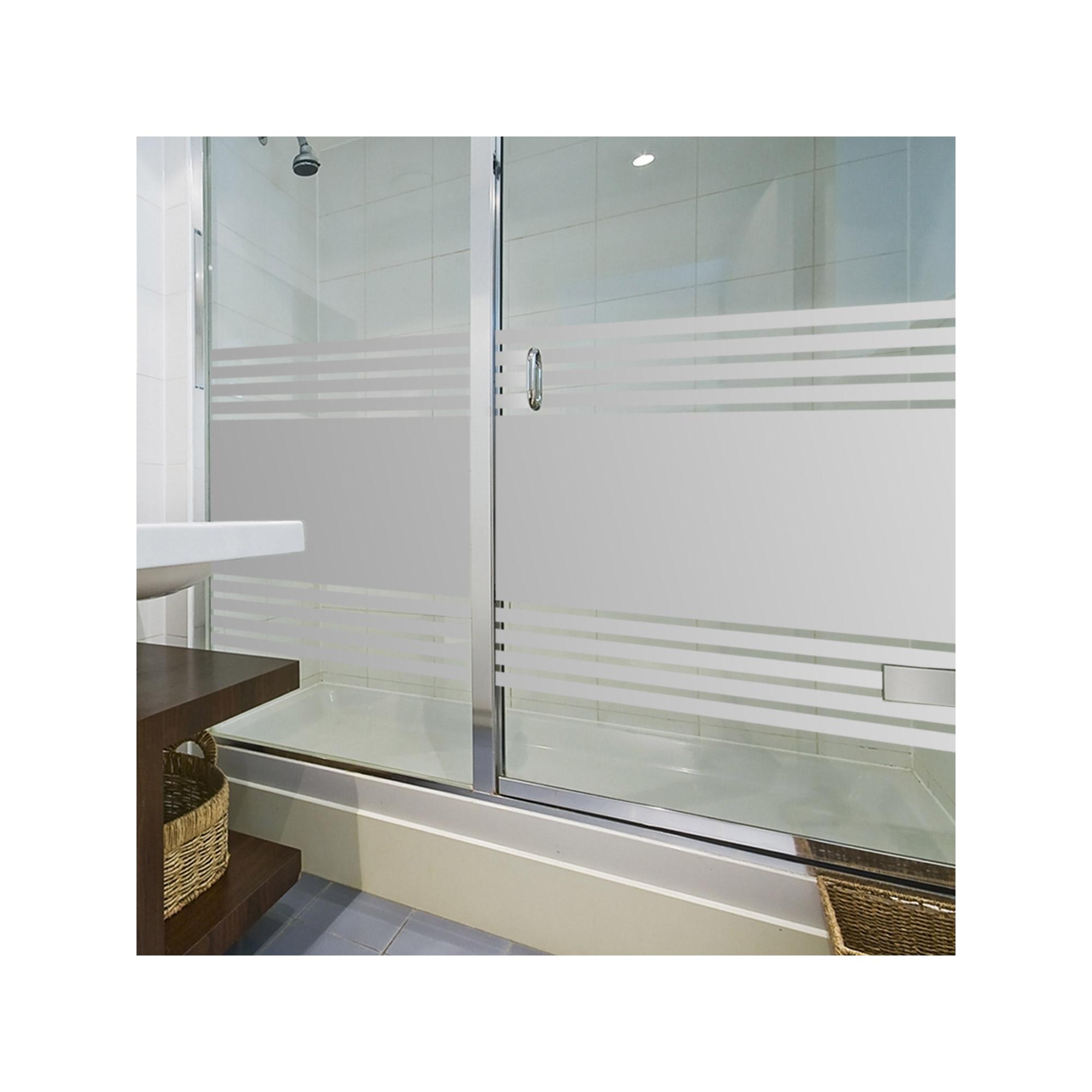 Sichtschutzfolie Fur Duschkabine Streifen Fensterfolie