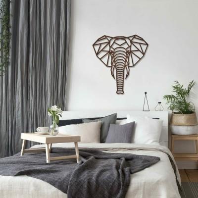 Dekoratives Wandobjekt, Elefant als Polygon