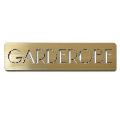 Garderobe Schild Piktogramm Hinweis Schild selbstklebend – gold