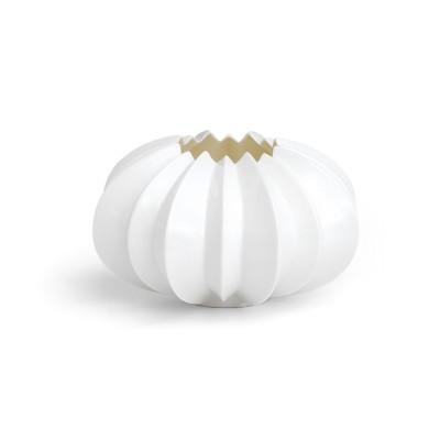 Kähler - Stella Eleganter weißer Teelichthalter aus Porzellan - Fensterdekoration in Sternform