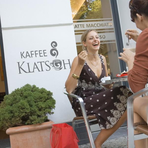 Wandtattoo Kaffeeklatsch Sprüche Bar Barista Sticker Kaffeetasse Wanddekoration