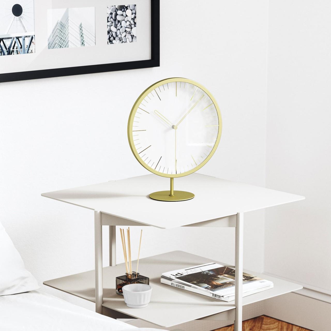 Runde Wand- und Tischuhr mit Sekundenzeiger