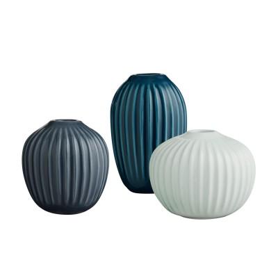 3x Design Miniatur Vasen aus Keramik, formschön & unverkennbar - Blumenvasen-Set