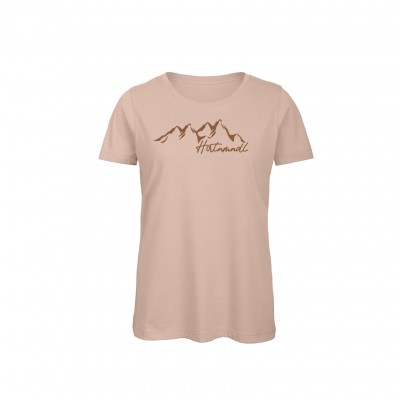 Damen T-Shirt Hirtamadl - millennial pink